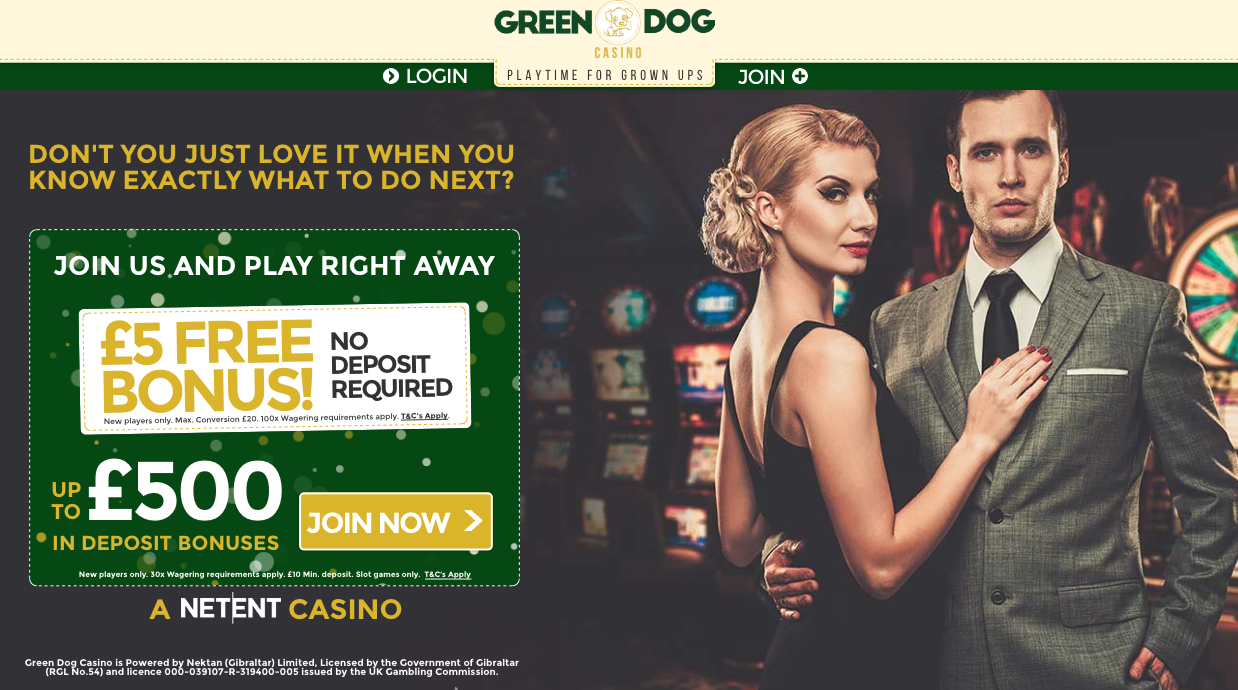 green dog casino no deposit bonus